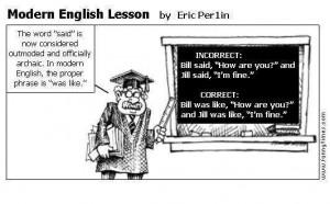modern english lesson cartoon