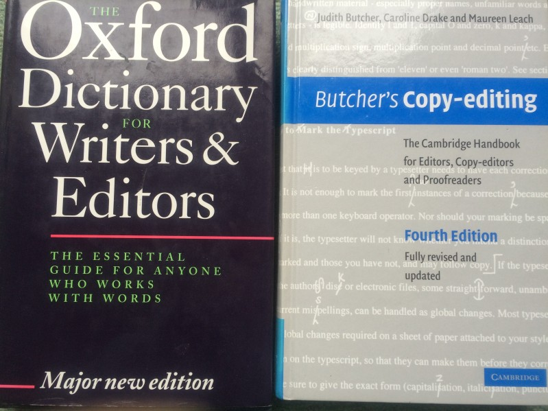 photo of two editing books