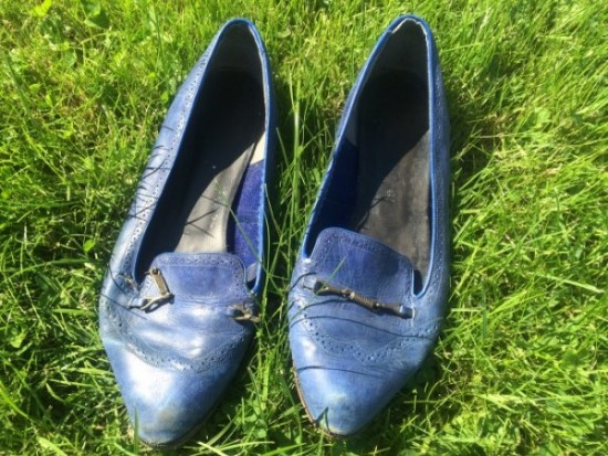 Worn, shabby shoes